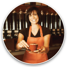 commercial coffee service employee